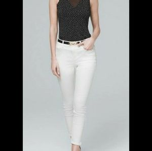 White House Black Market high-rise skinny crop